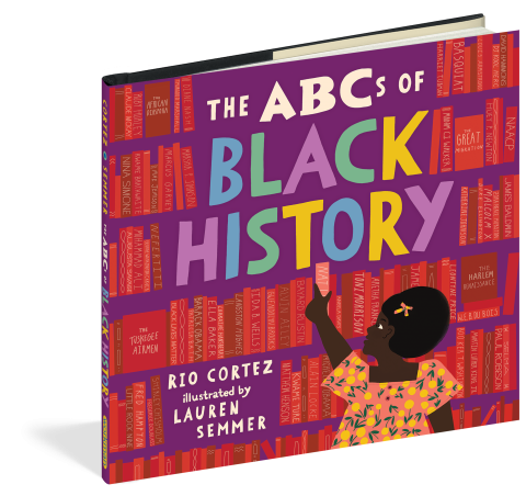 book cover for THE ABCS OF BLACK HISTORY, BY RIO CORTEZ